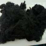 Black Polyester fiber waste